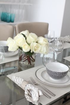 Create an Elegant Black & White Table Setting - Fashionable Hostess