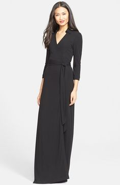 Free shipping and returns on Diane von Furstenberg 'Abigail' Maxi Wrap Dress at Nordstrom.com. A flattering, floor-grazing maxi incarnation of Diane von Furstenberg's signature wrap dress is styled with a smart point collar and three-quarter-length sleeves.