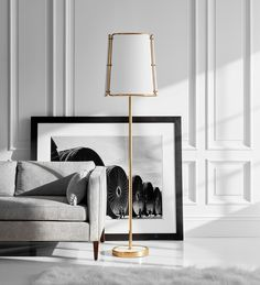 The @carrierandco Hastings Floor Lamp evokes mid century nostalgia mixed with modern day artisanal design. The distinctive tubular brass framework juxtaposed with white and marble highlights to provide a bold, minimalistic style 👌✨ @visualcomfort Large Floor Lamp, Visual Comfort Lighting, White Highlights, White Marble, Contemporary, Modern, Antique Brass, Mid Century, Flooring