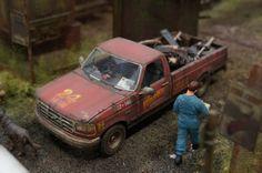 Interstate Classics, Wrecking Yard 1/25 Scale Model Diorama