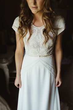 Bo and Luca Isra Bride Bridal Seperates Skirt Top Dress Gown Bohemian Outdoor Blessing Garden Wedding http://www.lukehayden.co.uk/