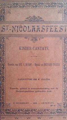 St. Nicolaasfeest (Kinder-Cantate) druk uit 1908.