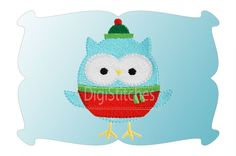 Christmas Owl Minis feature embroidery fill stitches and we've also included a mini applique design. Perfect for napkins, button covers, infant bodysuits, doll shirts, merged designs and more!