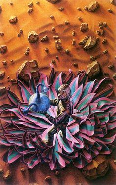 BARCLAY SHAW - art for Red Planet by Robert A. Heinlein - 1990 Del Rey / Ballantine