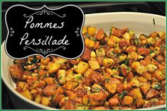 Do you simply roast your potatoes?  Try this recipe and you will have true French Bistro potatoes - you will never go back to just roasting! Pommes Persillade via Homemade Mommy