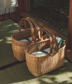 House By The Sea, Kitchen Items, Wicker Baskets, Pantry, Picnic, Bamboo, Camping, Japanese, Interior