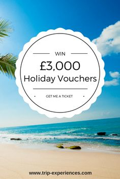 We have a holiday voucher to be won and YOU pick the destination. All you have to do is to enter to be in with a chance to win Holiday Vouchers. Beach, Water, Travel, Outdoor, Gripe Water, Outdoors, Viajes, The Beach