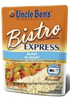Coupons et Circulaires: .75¢ Bistro Express UNCLE BENS