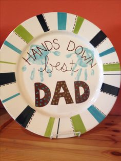 father's day pottery painting ideas