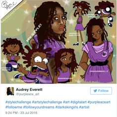 """superselected: """"Black Teen Artist Creates the Black Artists Take to Social Media to Draw in Different Animation Styles. Cartoon Drawings, Cartoon Art, Cute Drawings, Illustrator Tutorials, Art Tutorials, Art Style Challenge, Natural Hair Art, Soul Art, Artwork Pictures"""
