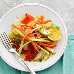 Smoked Salmon and Apple Supper Salad From Better Homes and Gardens, ideas and improvement projects for your home and garden plus recipes and entertaining ideas.