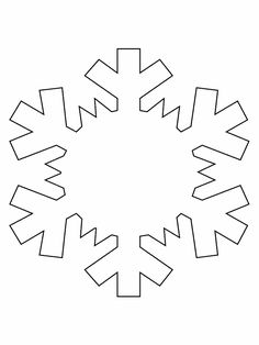 Print Snowflake Simple-shapes Coloring Pages coloring page & book. Your own Snowflake Simple-shapes Coloring Pages printable coloring page. With over 4000 coloring pages including Snowflake Simple-shapes Coloring Pages . Snowflake Cutouts, Snowflake Template, Simple Snowflake, Paper Snowflakes, Snowflake Pattern, Snowflake Ornaments, Christmas Snowflakes, Felt Christmas, Snowflake Outline