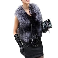 Etosell Lady Long Hair Faux Fur Coat…