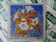 Antique Hand Painted Berlin Woolwork Embroidery Chart- Hertz & Wegener- | eBay