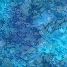 Ocean Blue Blender Color Splash Batik Fabric - Moda - Reg 11.49