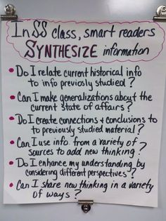 This is a great project for gt students in fifth and sixth grade image only no web site synthesizing anchor chart social studies high school might need to adjust the vocab for middle school fandeluxe Images