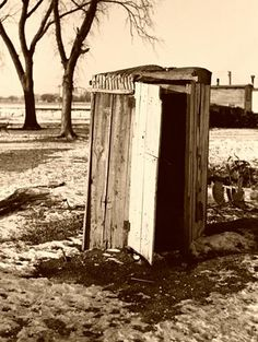 "Outhouse in ""Shantytown,"" Spencer, Iowa"
