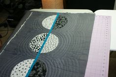 "Excellent ""Quilt as you go"" tutorial!  First section, quilted."