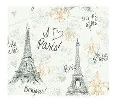 paris themed wallpaper   Paris Wallpaper, White Background/Black/Gold Reviews - Wallpaper ...