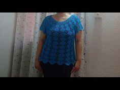 Blusa turquesa talla XL parte 1(opción talla Ch.M.G) - YouTube