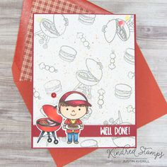 This project uses the Wacky Holiday- National BBQ Day set by Kindred Stamps. Check out my blog for more details!