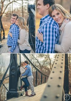black iron bridge in forest park // st louis wedding photographers