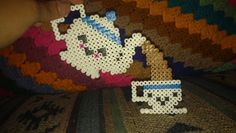 Tea Pot and Tea Cup perler beads by xxNightShade