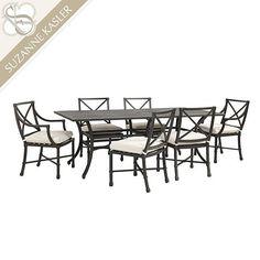 Suzanne Kasler Directoire 7-Piece Rectangular Dining Set - 84 Inch