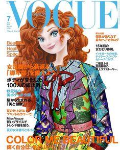 Disney Princess Merida, Disney Princess Fashion, Disney Style, Disney Love, Princesses Disney, Disney Pixar, Disney Fan Art, Disney Magazine, Modern Disney Characters