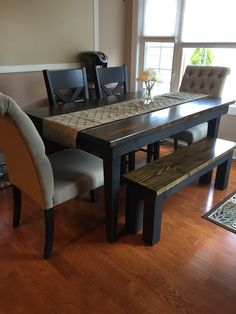 Learn more about the Farmhouse Table by James James Farmhouse Table With BenchDining