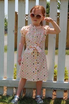 Dress -- can be made from a dress shirt -- cute shirring around the neckline!