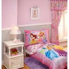 Disney - Princess Timeless Elegance 4pc Toddler Bedding Set, Pink
