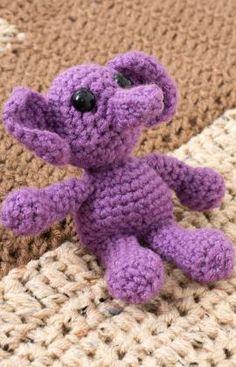 Elenora Elephant Free Crochet Pattern from Red Heart Yarns