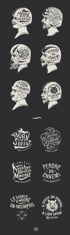 Hand drawn logos and lettering - Awesome as usual! by: http://bmddesign.fr/