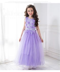02f7ff2d92cdc Free Shipping Retail Korea Girl Dresses Children Dress Party Summer  Princess Girl Dresses Wedding Dress Birthday Purply 9155 -in Dresses from  Mother & Kids ...