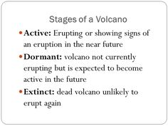 Image result for stages of a volcano