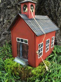 Fairy Garden School House!!  This site has awesome fairy garden stuff!