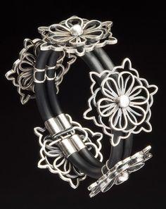 Bracelet | Janet Huddie.  Sterling silver.