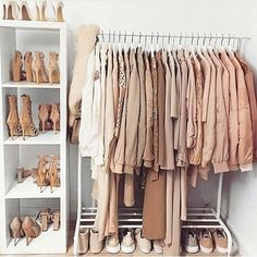 Closet goals. Tag a friend who loves nudes 💕💕