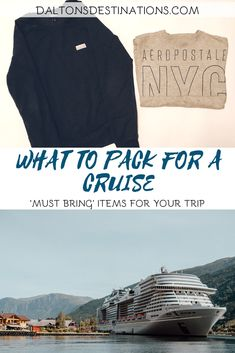 "Looking for the perfect packing guide for a cruise? This list will give you the ""musts"" to bring on board! Read the blog to find out more! 