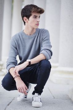 Shared by Manu Rios. Find images and videos about boy and manu rios on We Heart It - the app to get lost in what you love. Young Boys Fashion, Teen Boy Fashion, Mens Fashion, Fashion Beauty, Boy Poses, Male Poses, Manu Rios, Style Masculin, Photography Poses For Men
