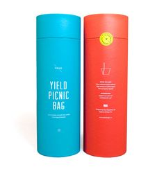 Upon launching the Yield Picnic Bag which unzips from bag to picnic blanket, we designed a collection of aspirational branding elements alongside it, dreaming of the 'beautiful days [that] lie ahead'.  Designed by Yield Design Co