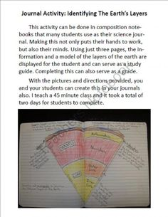 Science Journal: Earth's Layers product from MrTerrysScience on TeachersNotebook.com