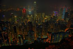 Skyline Hong Kong, as seen from the Peak