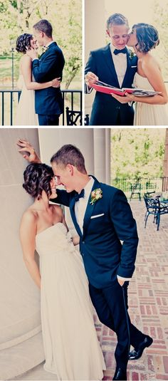 Love her hair. It's hard to find cute short wedding styles… i wish i could do my hair like this