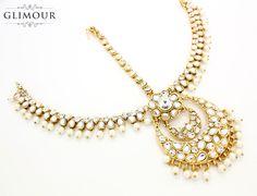 Handmade Pearl Kundan Stone Gold Silver Indian Matha Patti Headpiece Head Chain Bollywood Tikka Jhoomer Hair Chain Bridal Wedding Party Prom by Glimour on Etsy https://www.etsy.com/listing/242598206/handmade-pearl-kundan-stone-gold-silver
