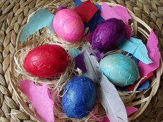 TUTORIAL- Jak zrobić wydmuszki oklejone bibułką? Easter Eggs