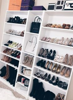 Ikea Closet Design Luxury Ikea Billy Bookcase for Shoes and Purses Master Closet Walk In Closet Ikea, Walk In Wardrobe, Master Closet, Closet Office, Closet Small, Shoe Closet, Spare Bedroom Closets, Diy Bedroom, Master Bedrooms