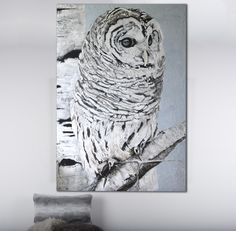 Up the wall creates custom artwork and wall murals. Artist Michelle Wenger is a mural painter toronto. She creates beautiful artwork and custom murals for your home, business or children. Barred Owl, Wildlife Paintings, Room Themes, Beautiful Artwork, Wall Murals, Lion Sculpture, Cottage Ideas, Statue, Bird