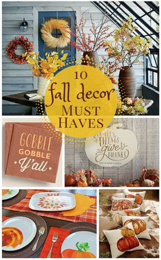 10 Fall Decor Items We Want Right Now  Like we really, really want them in our house right this minute.